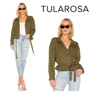 NWT Tularosa Avery Stand Collar Jacket in Green